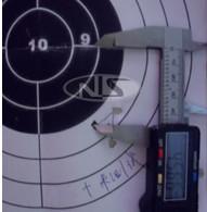 第三步测量实际射击中心距离靶子中心点垂直距离 瞄准镜校准